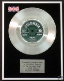 "CLIFF RICHARD- 7"" Platinum Disc - LIVING DOLL"